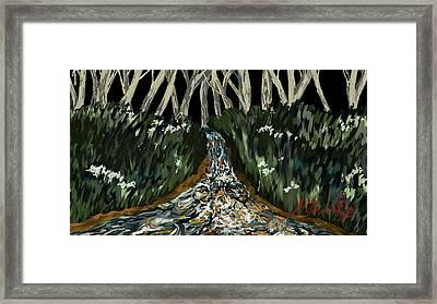 Falling Framed Print by Amanda Johnson