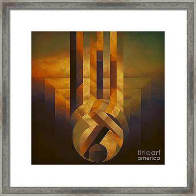 Falling Approach Framed Print by Lonnie Christopher