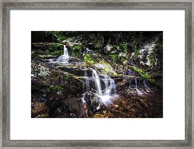 Framed Print featuring the photograph Falling Cascades  by Joshua Minso