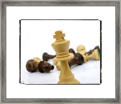 Falling Chess Piece Framed Print by Bernard Jaubert