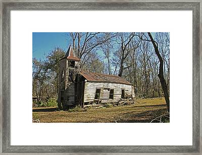 Falling Down Church Framed Print