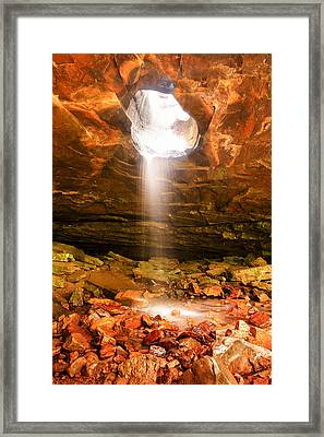 Falling Down - Glory Falls Framed Print by Gregory Ballos