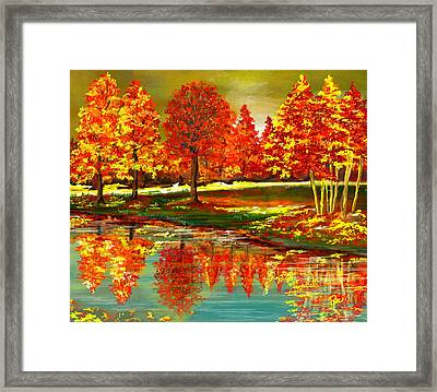 Falling Down Framed Print by Maria Schaefers