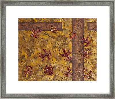 Falling Down Framed Print by Nickie Bradley