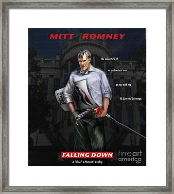 Falling Down Framed Print