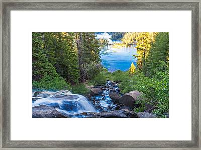 Falling Down To The Lakes Framed Print