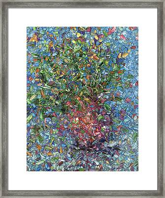Falling Flowers Framed Print by James W Johnson