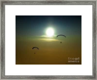 Falling From The Heavens Framed Print