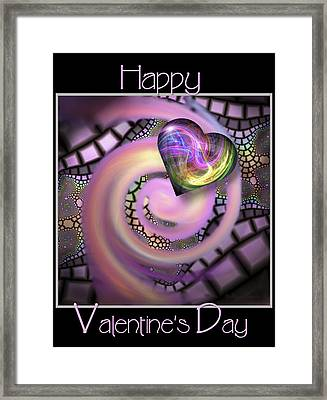 Falling In Love - Valentine Card / Poster Framed Print