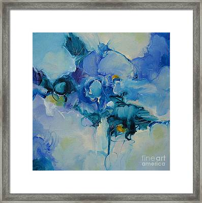falling into blue I Framed Print