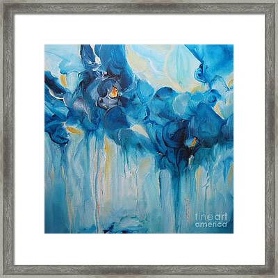 Falling Into Blue II Framed Print