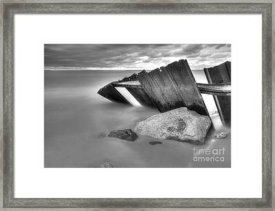 Falling Into Lake Michigan Framed Print by Twenty Two North Photography