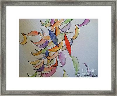 Falling Into Place Framed Print by Sherry Harradence