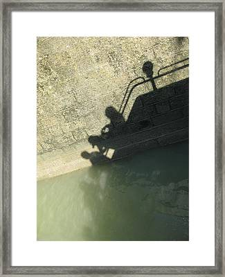 Framed Print featuring the photograph Falling Into The Water by Menega Sabidussi