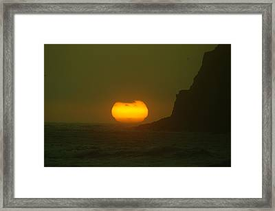 Falling Into The Waves Framed Print by Jeff Swan