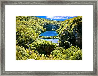Falling Lakes Of Plitvice National Park Framed Print