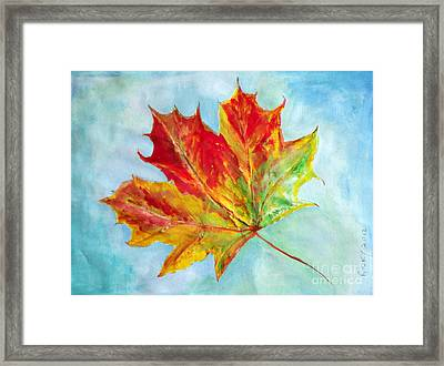 Falling Leaf - Painting Framed Print