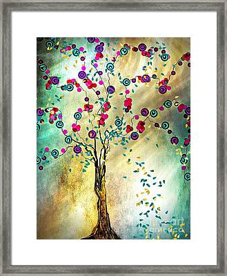 Falling Leaves Framed Print by Barbara Chichester