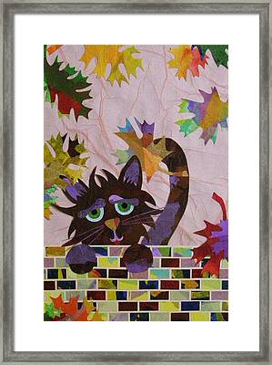 Framed Print featuring the mixed media Falling Leaves by Diane Miller