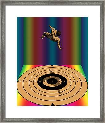 Falling Man Framed Print by Eric Edelman