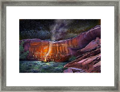 Falling Man Framed Print by Ric Soulen
