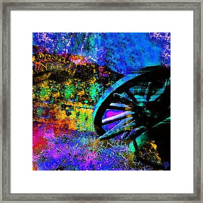 Falling Framed Print by Barbs Popart