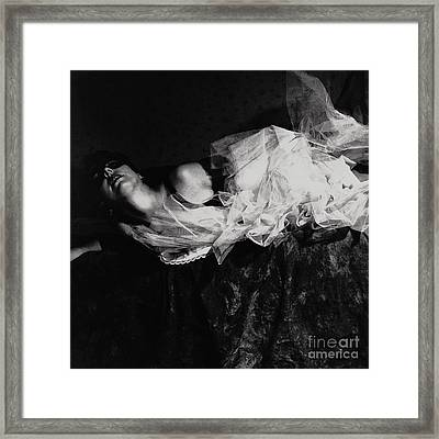 Falling Out Of Love Framed Print by Sharon Coty