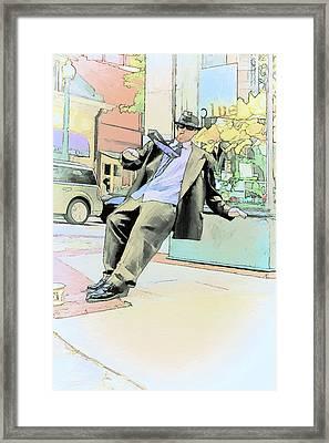 Falling Over Backwards Framed Print by John Haldane