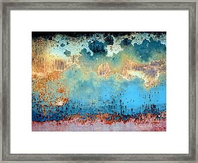 Falling Rain Framed Print
