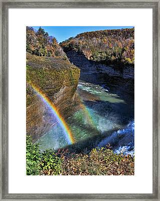 Framed Print featuring the photograph Falling Rainbow by David Stine