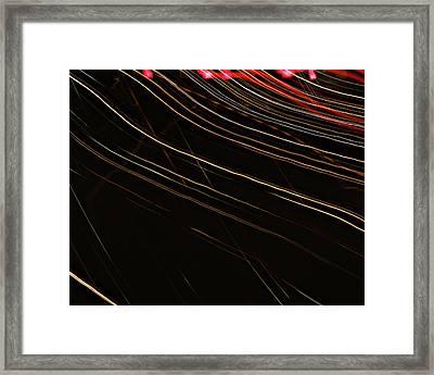 La-405 Falling Framed Print