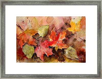Framed Print featuring the painting Falling by Sandra Strohschein