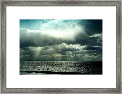 Falling Sky Framed Print by Brooks Byrd