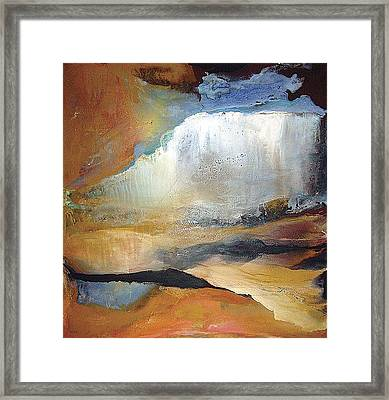 Falling Sky Ice Mountain Framed Print