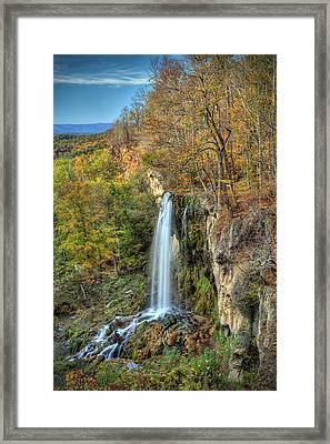 Falling Springs Falls Framed Print