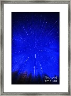 Falling Stars Framed Print by Thomas R Fletcher