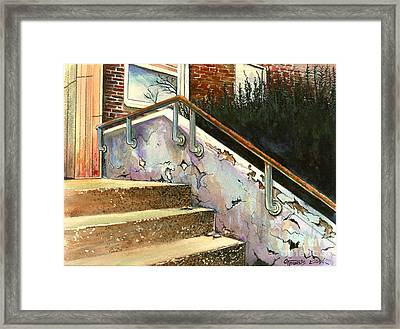 Falling Thru The Cracks  Framed Print by GG Burns