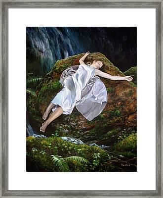 Falling Framed Print by Tim Davis