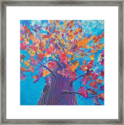 Falling Up Framed Print by Robin Coats