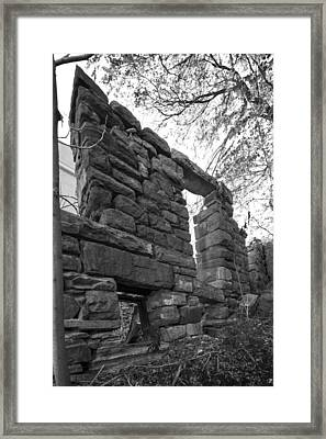 Falling Wall Jerome Black And White Framed Print by Scott Campbell