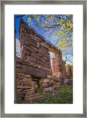 Falling Wall Jerome Framed Print by Scott Campbell