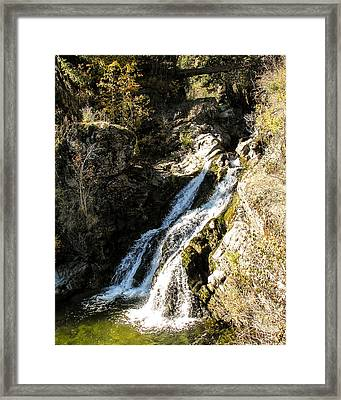 Falling Water Framed Print by Curtis Stein