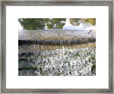 Framed Print featuring the photograph Falling Water by Teresa Schomig