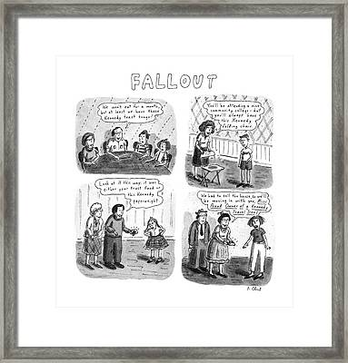 Fallout Framed Print by Roz Chast