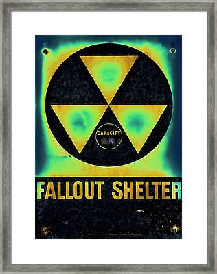 Fallout Shelter Abstract 2 Framed Print by Stephen Stookey