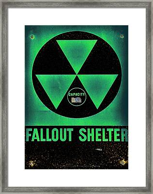Fallout Shelter Abstract 6 Framed Print by Stephen Stookey
