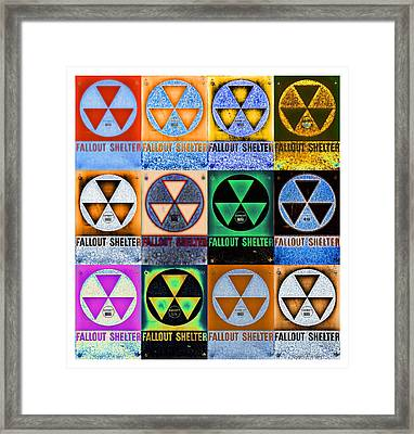 Fallout Shelter Mosaic Framed Print