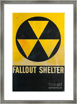 Fallout Shelter Framed Print by Olivier Le Queinec