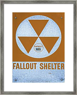 Fallout Shelter Sign Framed Print by Stephen Stookey