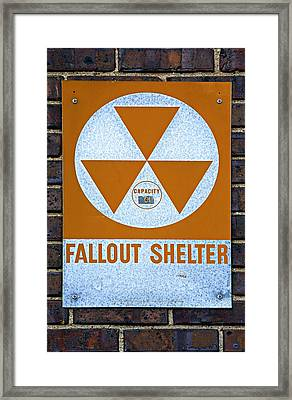 Fallout Shelter Framed Print by Stephen Stookey